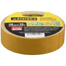 1217-38-10 Лента клейкая STAYER PROFI двусторонняя на тканевой основе, 38мм х 10м