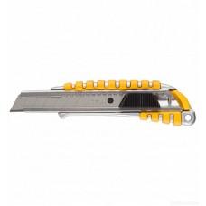 09143 Нож STAYER MASTER металлический обрезиненный корпус, автостоп, 18 мм