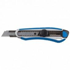 09178 Нож ЗУБР ЭКСПЕРТ, двухкомпонентный корпус, мех. фиксатор, лезвие 18мм, сталь У8А
