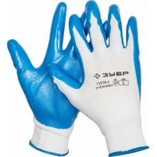 11276-L Перчатки ЗУБР МАСТЕР маслостойкие для точных работ с нитриловым покрытием, размер L